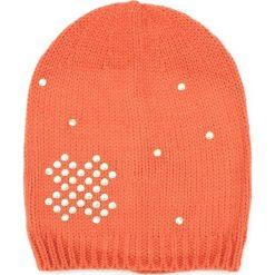 Czapka damska  beanie Złoty krzyżyk pomarańczowa. Brązowe czapki zimowe damskie marki Art of Polo. Za 36,52 zł.