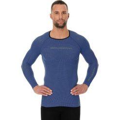 Koszulki sportowe męskie: Brubeck Koszulka męska 3D Run PRO z długim rękawem granatowa L (LS13000)