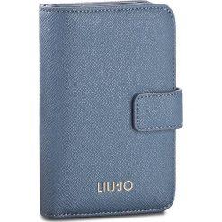 Duży Portfel Damski LIU JO - M Zip Around Manhattan A18175 E0499 Blu Polvere 83918. Niebieskie portfele damskie marki Liu Jo, ze skóry ekologicznej. W wyprzedaży za 249,00 zł.