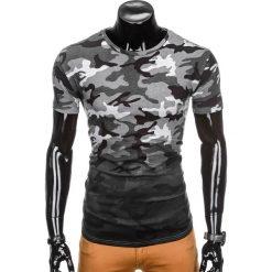 T-shirty męskie: T-SHIRT MĘSKI Z NADRUKIEM MORO S869 - SZARY