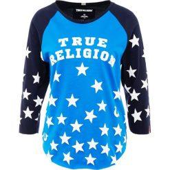 True Religion STARS Bluzka z długim rękawem cobalt. Niebieskie bluzki asymetryczne True Religion, m, z bawełny, z długim rękawem. Za 419,00 zł.