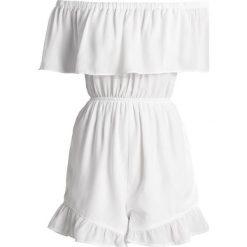 Kombinezony damskie: Missguided Petite BARDOT FRILL Kombinezon white