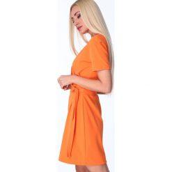Sukienki: Sukienka z klamerką pomarańczowa 1670