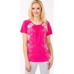 Bluzki asymetryczne: Bluzka z barwnymi kwiatami
