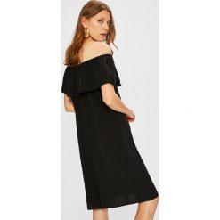 Vila - Sukienka. Szare sukienki mini marki Vila, na co dzień, z lyocellu, casualowe, proste. W wyprzedaży za 149,90 zł.