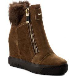 Botki BALDININI - 848403AKILA49R  Kidi/Lapin Bruno. Brązowe buty zimowe damskie Baldinini, ze skóry, na obcasie. W wyprzedaży za 1019,00 zł.
