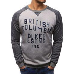 Bluzy męskie: Bluza męska z nadrukiem szara (bx1153)