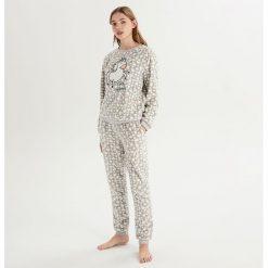 Dwuczęściowa piżama z jednorożcem - Jasny szar. Szare piżamy damskie Sinsay, l. Za 79,99 zł.