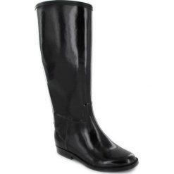 """Buty damskie: Kalosze """"Cavalière"""" w kolorze czarnym"""