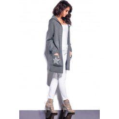 Melanżowy sweter z gwiazdą grafit MARY. Szare swetry klasyczne damskie marki Reserved, m, z kapturem. Za 109,90 zł.