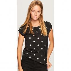 T-shirt we wzory - Czarny. Czarne t-shirty damskie Reserved, l. Za 49,99 zł.