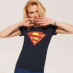 T-shirt Superman - Granatowy. Niebieskie t-shirty damskie House, l, z motywem z bajki. Za 29,99 zł.