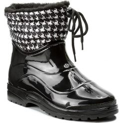 Kalosze SCHOLL - New Vestmann Low F26844 2093 350 Black/Pied De Poule. Czarne buty zimowe damskie Scholl, z materiału. W wyprzedaży za 209,00 zł.