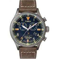 Biżuteria i zegarki męskie: Zegarek Timex Męski TW2P84100 Waterbury Collection Chrono brązowy