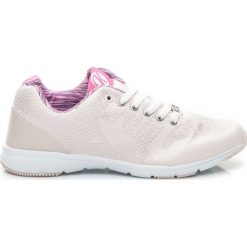 Buty sportowe damskie: SPORTOWE BUTY SNAKE – odcienie brązu i beżu