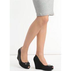 Buty ślubne damskie: Czarne Koturny Teney