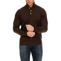 Golfy męskie: Sweter w kolorze brązowym