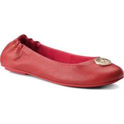 Baleriny TOMMY HILFIGER - Flexible Ballerina Leather FW0FW03401 Tommy Red 645. Czerwone baleriny damskie lakierowane TOMMY HILFIGER, z materiału. Za 399,00 zł.