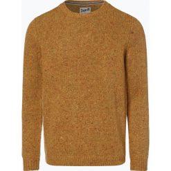 DENIM by Nils Sundström - Sweter męski z dodatkiem alpaki, żółty. Żółte swetry klasyczne męskie DENIM by Nils Sundström, m, z denimu. Za 249,95 zł.