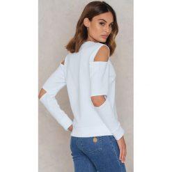 Bluzy rozpinane damskie: Statement By NA-KD Influencers Bluza Maren Merkel - White