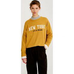 """Bluzy rozpinane damskie: Bluza z napisem """"New York"""""""