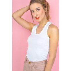 Bluzki damskie: Koszulka bokserka na szerszych ramiączkach