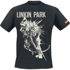 T-shirty męskie: Linkin Park LIP Archer Tour Dated German Colors T-Shirt czarny