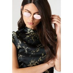 Okulary przeciwsłoneczne damskie: NA-KD Urban Owalne okulary przeciwsłoneczne – Purple