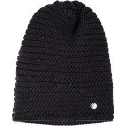 Czapki zimowe damskie: Czarna prążkowana czapka QUIOSQUE