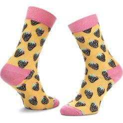 Skarpety Wysokie Unisex HAPPY SOCKS - STB01-200 Żółty. Żółte skarpetki męskie Happy Socks, z bawełny. Za 34,90 zł.