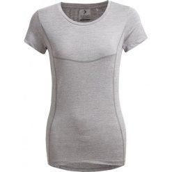 Koszulka treningowa damska TSDF600 - chłodny jasny szary melanż - Outhorn. Szare topy sportowe damskie Outhorn, melanż, z materiału. W wyprzedaży za 39,99 zł.