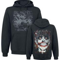 The Joker Arkham Joker Bluza z kapturem czarny. Czarne bejsbolówki męskie The Joker, l, z nadrukiem, z kapturem. Za 164,90 zł.