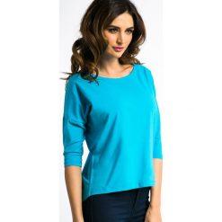 Bluzki damskie: Niebieska Bluzka z Cyrkoniami 3274