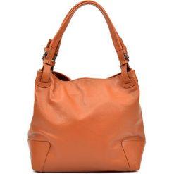 Torebki klasyczne damskie: Skórzana torebka w kolorze jasnobrązowym – (S)22,5 x (W)34 x (G)8,5 cm