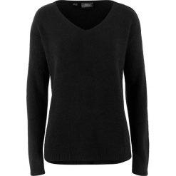 Swetry oversize damskie: Sweter oversize z rozcięciem bonprix czarny