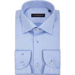 Koszula Błękitna Forest. Niebieskie koszule męskie na spinki marki LANCERTO, m, w geometryczne wzory, z bawełny, z klasycznym kołnierzykiem. W wyprzedaży za 149,90 zł.