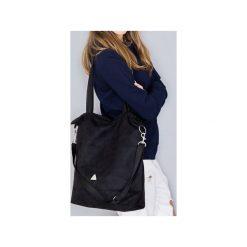 Torba black simple. Czarne torebki klasyczne damskie drops, w paski, z bawełny. Za 149,00 zł.