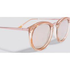 Okulary przeciwsłoneczne damskie aviatory: Le Specs Okulary przeciwsłoneczne No Smirking - Pink,Nude