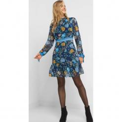 Szyfonowa sukienka w kwiaty. Brązowe sukienki dzianinowe marki Orsay, s. Za 139,99 zł.