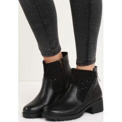 Czarne Botki Drizzling. Czarne buty zimowe damskie Born2be, na niskim obcasie. Za 54,99 zł.