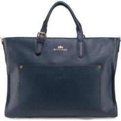 Torebka damska 85-4E-428-7. Niebieskie torebki klasyczne damskie Wittchen, w paski. Za 479,00 zł.