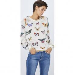 Pepe Jeans - Bluzka Aime. Szare bluzki damskie Pepe Jeans, l, z jeansu, casualowe, z okrągłym kołnierzem. Za 359,90 zł.