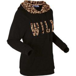 Bluzy rozpinane damskie: Lekka bluza, długi rękaw bonprix czarny leo