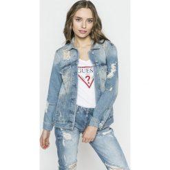 Guess Jeans - Kurtka Ellie. Szare bomberki damskie Guess Jeans, m, z aplikacjami, z bawełny. W wyprzedaży za 569,90 zł.