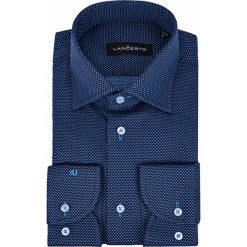 Koszula Granatowa Roland. Niebieskie koszule męskie na spinki marki LANCERTO, m, z haftami, z bawełny. Za 299,90 zł.