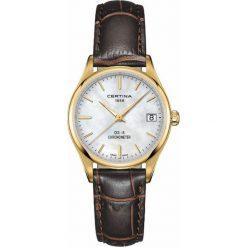 PROMOCJA ZEGAREK CERTINA DS-8 LADY COSC CHRONOMETER C033.251.36.111.00. Białe zegarki damskie CERTINA, szklane. W wyprzedaży za 1575,20 zł.