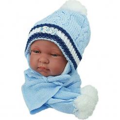 Czapka niemowlęca z szalikiem CZ+S 002B. Szare czapeczki niemowlęce Proman. Za 38,76 zł.
