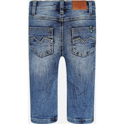 Mayoral - Jeansy dziecięce 74-98 cm. Niebieskie jeansy męskie Mayoral, z aplikacjami, z bawełny. W wyprzedaży za 49,90 zł.