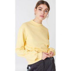 NA-KD Basic Bluza basic - Yellow. Różowe bluzy damskie marki NA-KD Basic, prążkowane. Za 100,95 zł.