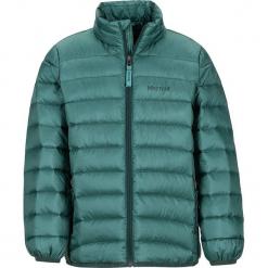 """Kurtka puchowa """"Tullus"""" w kolorze zielonym. Zielone kurtki chłopięce marki Marmot Kids, z puchu. W wyprzedaży za 195,95 zł."""